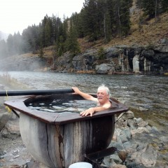 Hot tubbing on the Salmon River 2016